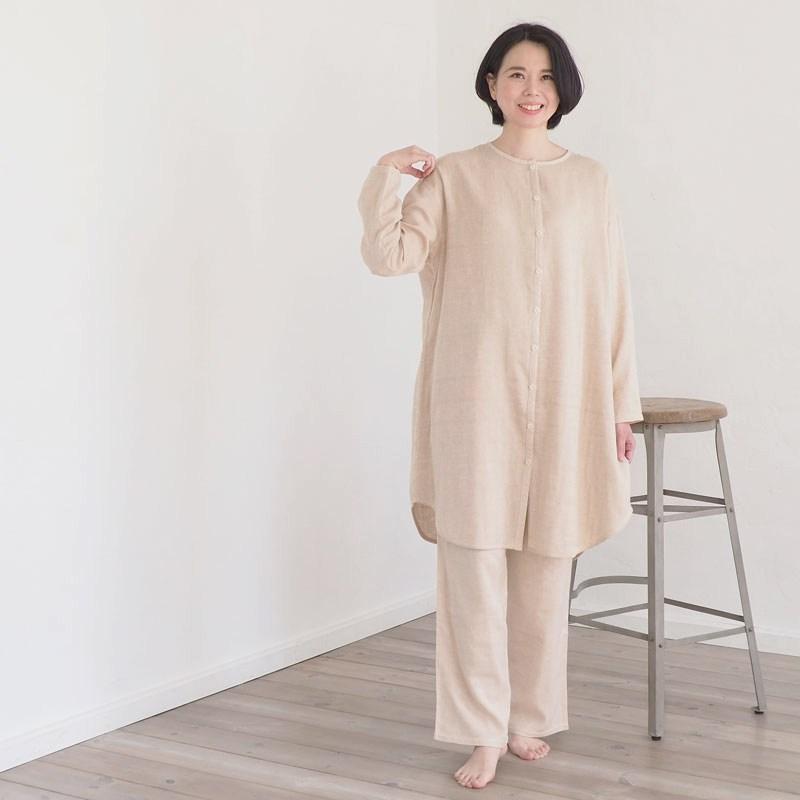 ダブルガーゼのワンピースパジャマ