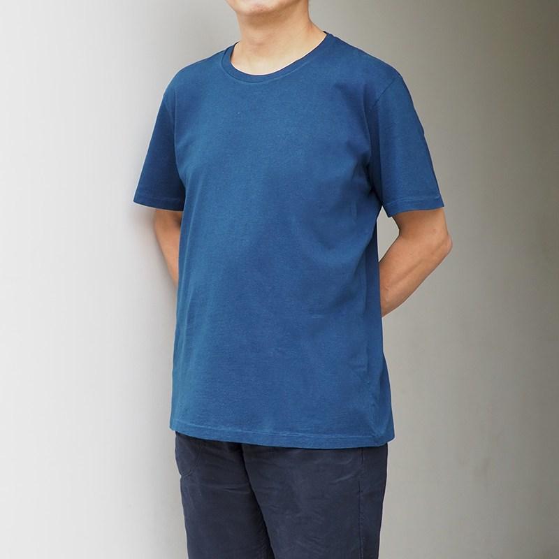 正藍染Tシャツ【天竺】【L/藍】