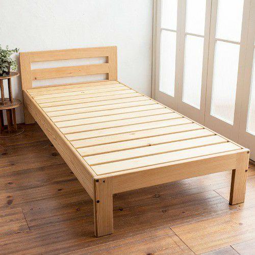 信州産無垢材のベッド【シングルサイズ】