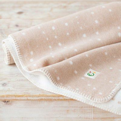 綿毛布【ハーフケット/かぜ/茶】